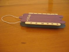 Craft Stick Sled Ornament Craft