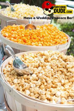 Visit www.PopcornDude.com to order BULK Flavored Popcorn for your Wedding Reception or Large Party!