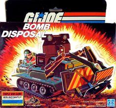 GI Joe Vehicle BOMB Disposal Unit ROLLER 1985 Original Part