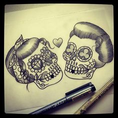 Couple skulls j'adore !