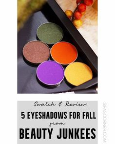 Fall eyeshadow, eyeshadow palettes || Eyeshadows for Fall season || Affordable Eyeshadows || Beauty Junkees eyeshadow review and swatch || #sifascorner #makeupreview #FallMakeup