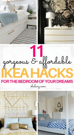 Great Screen Are you in need of some bedroom ideas? These DIY IKEA bedroom hacks will create . Style In lots of dormitories Ikea bedrooms are very happy to be observed, as they provide numerous answers Ikea Bedroom Furniture, Ikea Bedroom Storage, Small Bedroom Organization, Apartment Furniture, Furniture Ideas, Furniture Storage, Bedroom Ideas For Small Rooms Diy, Bedroom Designs For Couples, Small Room Bedroom