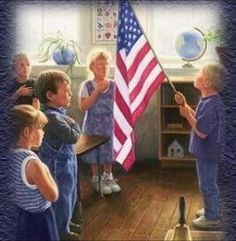 I remember every morning starting my school day with the pledge. It was an honor to be the flag bearer.