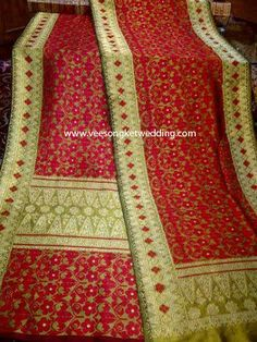 For Rent : Songket Palembang motif Pucuk Pisang Serumpun Merah For ...