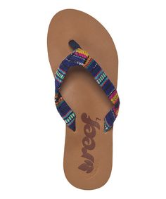 491a9fbeb Love this Blue Guatemalan Knot Flip-Flop - Women by Reef on  zulily!
