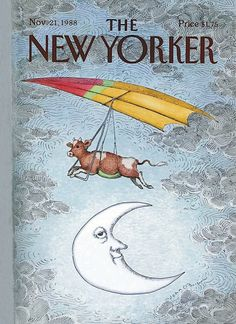 Painting - New Yorker November 1988 by John O'Brien , The New Yorker, New Yorker Covers, Thing 1, Wall Art For Sale, Animal Posters, Magazine Art, Magazine Covers, Vintage Magazines, Vintage Photos