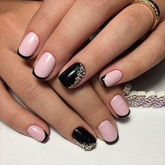French Nail Art designs are minimal yet stylish Nail designs for short as well as long Nails. Here are the best french manicure ideas, which are gorgeous. Pink Nail Art, Pink Nails, Bright Nails, Cool Nail Art, Hair And Nails, My Nails, Feet Nails, Nail Deco, Nail Art Design Gallery
