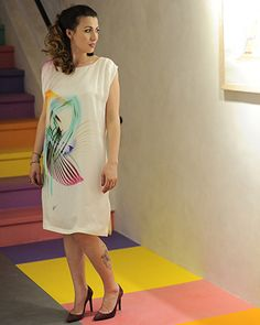 """Rochie mătase """"Rainbow Consternation"""" - Colors of Love City Vibe, Love Affair, Personal Style, Butterfly, Rainbow, Fresh, Summer Dresses, Boho, Tips"""