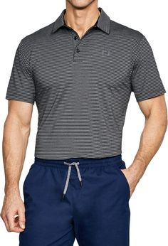 Under Armour Men's Playoff Core Stripe Golf Polo | Tropical Tide