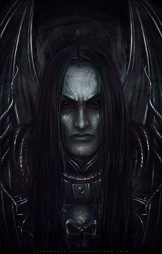 Curze by on DeviantArt Dark Fantasy Art, Fantasy Artwork, Dark Art, Warhammer 40k Art, Warhammer Fantasy, Battlefleet Gothic Armada, Gothic Characters, The Horus Heresy, Morgoth