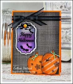 Inspired by Stamping, A Spooky Halloween stamp set, Pumpkin Faces stamp set, Halloween Labels stamp set, Halloween Card