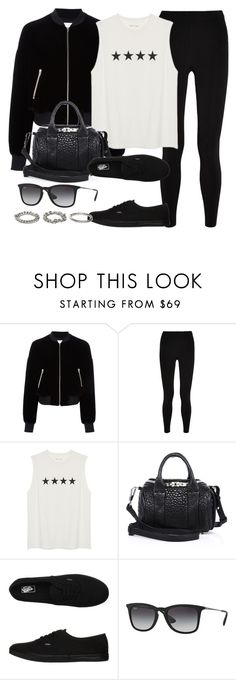 """Style #11396"" by vany-alvarado ❤ liked on Polyvore featuring T By Alexander Wang, Alexander Wang, Vans, Ray-Ban and ASOS"