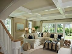 Photo of White Contemporary Living Room project in Saratoga Springs, NY by Witt Construction