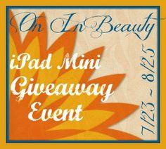 """On In Beauty"" iPad Mini #GIVEAWAY"