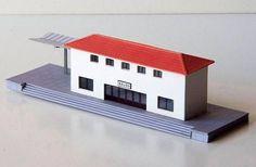 Salou De Ibertren Train Station Free Building Paper Model Download
