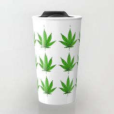 leaf pattern 2 Travel Mug