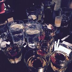 So much alcohol! Gin tonics and jägerbombs