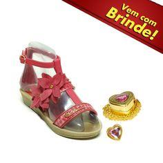 La Traviata Calçados   Loja Virtual   Disney Sandalia Infantil Rosa 20867-princesas Jd Secreto