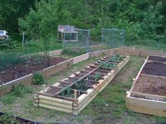 Easy to build raised garden beds and square foot gardening... - done