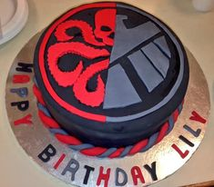 Agents of SHIELD Hydra/SHIELD cake #marvel #bb-8 #spherobb8 #bb8 #starwars #friki