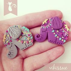Tiny elephant Polymer clay brooch #elephant #mandala #india #indian #indonesia #polymerclay #clay #fimo #brooch #handmade #handmadewithlove #handcrafted #color #colorful #original #creative #cute #love #tiny #mini #purple #art #myart #artwork #arcillapolimerica #broche #hechoamano #flowers #spring #springtime