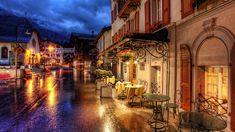 seara cafenele stradale din Elveția