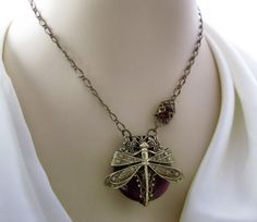La Belle Epoque Dragonfly necklace dragonfly jewelry by Federikas