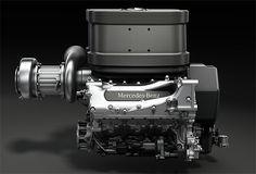 LLEGAN LOS TURBO V6  Mercedes desvela el diseño de los nuevos motores de 2014