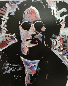 John Lennon of The Beatles Original Painting by artist Matt Pecson