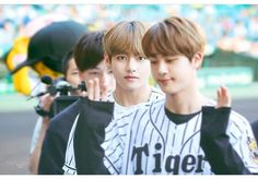 Jin is like I am done lol and V is looking in the camera