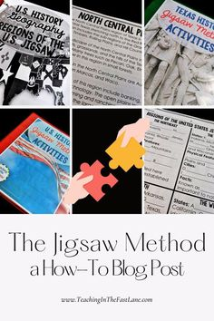"""To complete the Jigsaw Method, first split your students into groups depending on how many """"chunks"""" of information you have. I would recommend 4-6 students in each group. These groups are called the Jigsaw Groups. This strategy works best when you have the same number of students in each group, but our classrooms rarely work out that way, so try to get as close as you can. For the rest of the steps, click the image to read on! Cooperative Learning Strategies, Cooperative Games, Upper Elementary Resources, Indiana State, Teacher Resources, That Way, Activities, Students, Rest"""