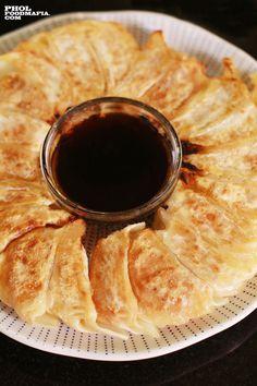 Pork and Kimchi Gyoza Recipe Details, Kimchi, Chocolate Fondue, Pork, Japanese, Desserts, Recipes, Kale Stir Fry, Tailgate Desserts