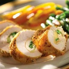 Cheese-Stuffed Chicken Breasts _ #Recipes #Chicken #Foods