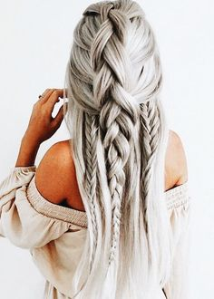 Braids are beautiful and they are one of the best ways to dress your hair. Making braids does not take much effort nor much time, yet hair braids are very stylish and attractive. There are many ways to braid your hair, thus, in this post, we have selected Wedding Hairstyles For Long Hair, Cute Hairstyles, Hairstyle Ideas, Latest Hairstyles, Hairstyles 2018, Hair Ideas, Hot Haircuts, Graduation Hairstyles, Popular Haircuts