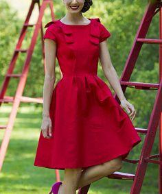 Loving this Red Carmine Dress on #zulily! #zulilyfinds
