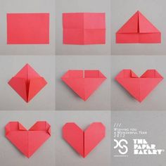 Origami for Everyone – From Beginner to Advanced – DIY Fan Paper Hearts Origami, Easy Origami Heart, Cute Origami, Origami Easy, Origami Flowers, Paper Folding Crafts, Origami Paper Folding, Paper Crafts For Kids, Paper Crafting