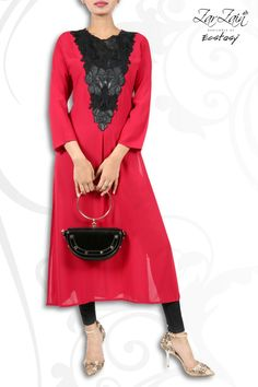 Light Weight Georgette Kameez In Wonderful Combination Of Red And Black. Barcode : 182550900816. Price: BDT 4,035. Bag Barcode: 439570350285 Price: BDT 3,619.