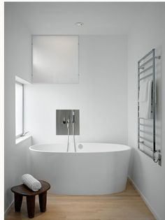 Small Tub Design Ideas For Any Bathroom Design Bathrooms Get inspired for repairing your small bathroom tub with these small tub design ideas. Are you looking for a small tub? There is a simple way to get th. White Bathroom, Bathroom Interior, Home Interior, Small Bathroom, Master Bathroom, Bathroom Art, Bathroom Flooring, Interior Design, Minimalist Bathroom Design