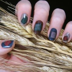 Scarecrow patch nails, how cute!!