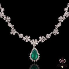 Mozafarian Emerald and Diamond Necklace More