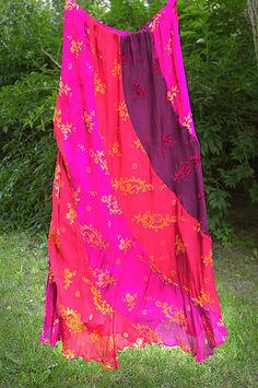 Silk bohemian gipsy skirt crimson red hippie by GreenHouseGallery, $65.00