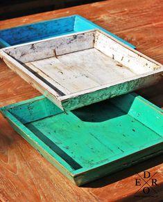 "Tablett Holz Bunt 4eck ""Grasse"" Buddha Kopf, Home Living, Bunt, Stool, Tray, Furniture, Home Decor, Trays, Home Decor Accessories"