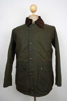 Pristine BARBOUR Northumbria WAX Jacket Dark Green Small
