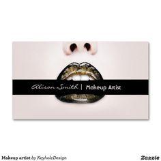 Makeup artist tarjetas de visita