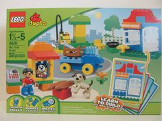 LEGO duplo Model #4631 My First Build 59 Piece Set. Ages 18 months - 5 years. Includes FOUR Learn to Build LEGO Duplo Cards. They show you what you can build and what Blocks to use as well as how to place them! | eBay!
