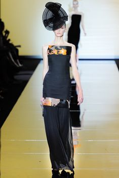 Armani Privé Fall 2011 Couture Fashion Show - Sigrid Agren (Elite)