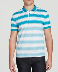 Boss Green Paddy Stripe Polo - Slim Fit