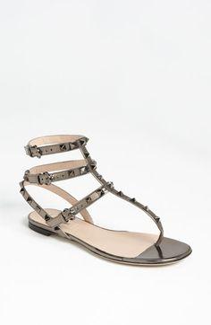 Valentino 'Rockstud' Flat Sandal available at Nordstrom