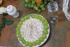 Canjica e uva verde