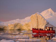 Ilulissat ice field in Greenland